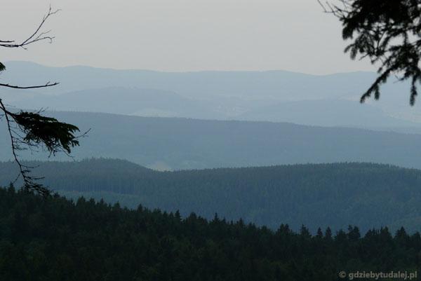 Widok na Góry Bystrzyckie.
