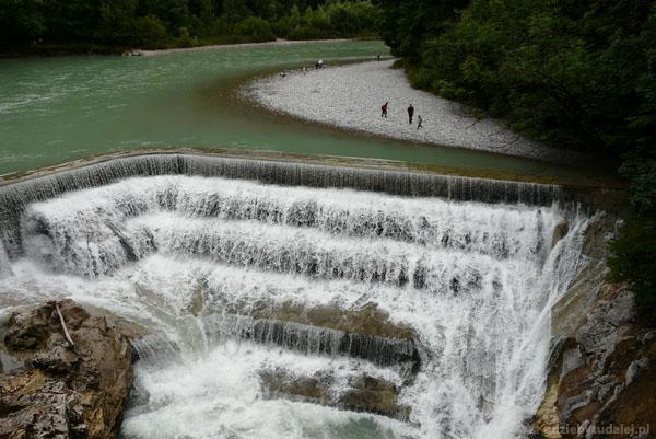 Wodospad na rzece Lech, Füssen.