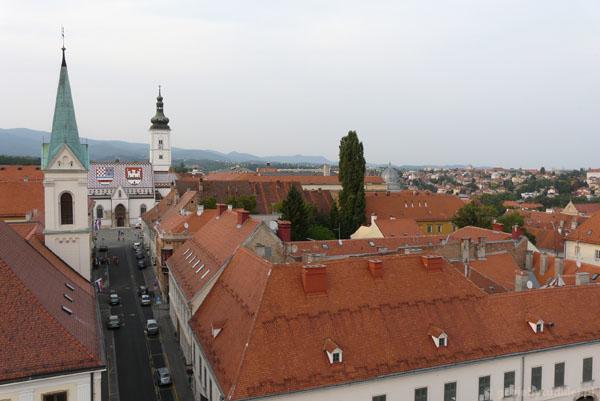 Gradec z Wieży Lotrščak.