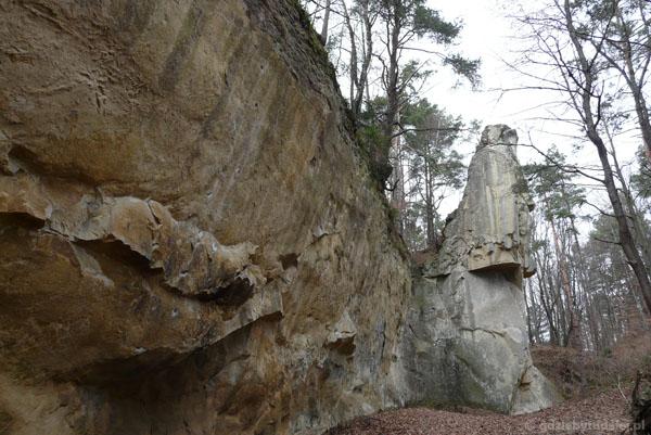 Kamień Leski - imponujące rozmiary.