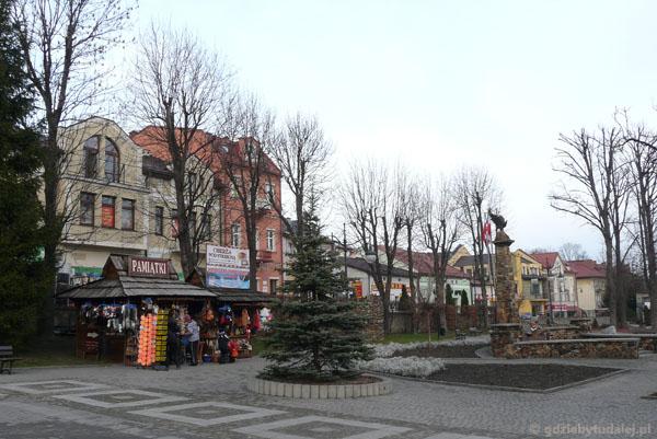 Rynek w Ustrzykach Dolnych.