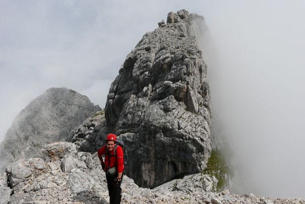 Szczytowe partie podejścia na Alpspitze.