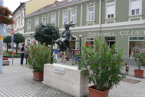 Główny plac (Fo ter) w Tapolcy.