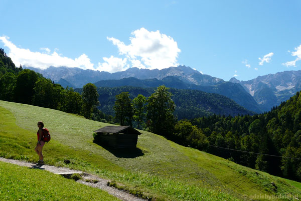 Z Doliny Partnach na Eckbauer.
