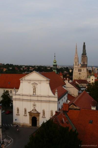 Barokowy (XVII) Kościół Św. Katarzyny z Wieży Lotrščak.