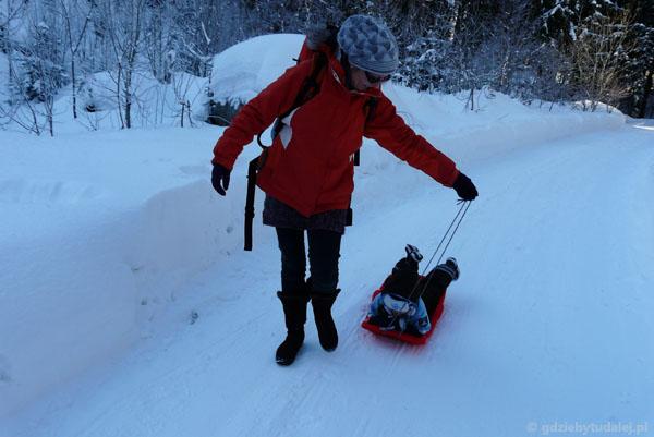 Powrót do Peca pod Snežkou - styl na śledzia.