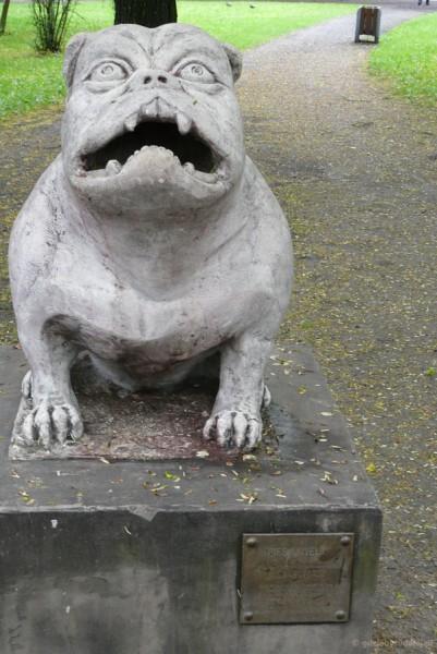 Replika pomika psa Kawelina.