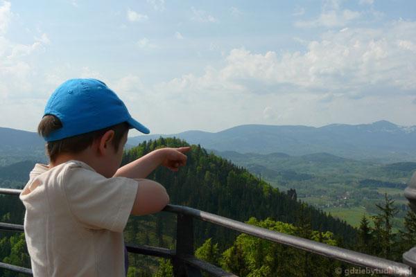 Widok z Sokolika na Karkonosze.