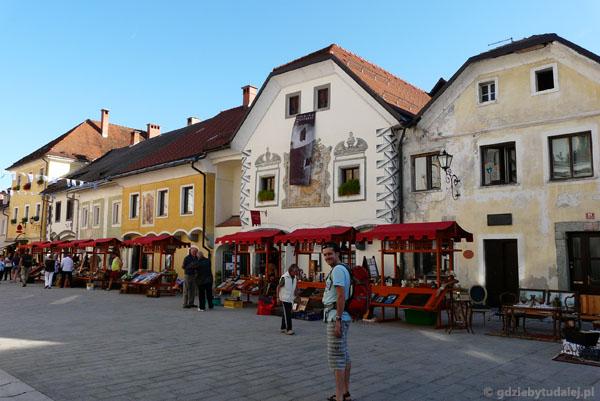 Rynek w Radovljicy.