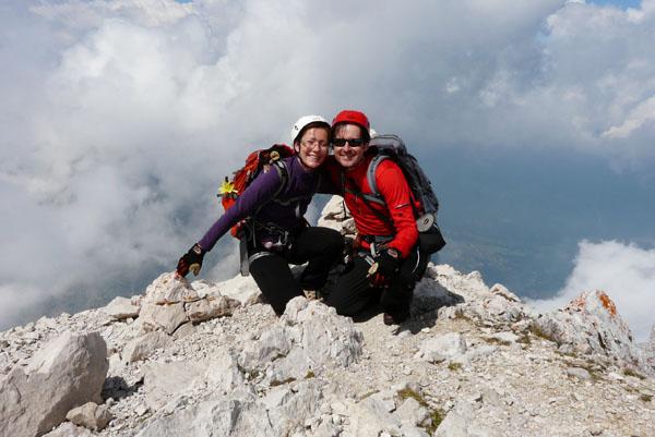 Szczyt Alpspitze (2628 m n.p.m.).