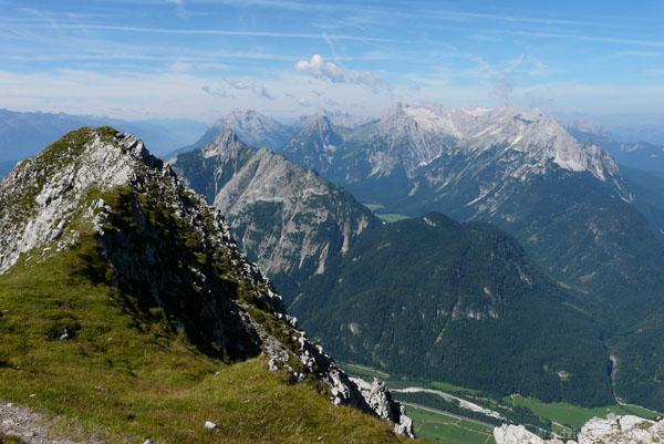 Widok na masyw Zugspitze.
