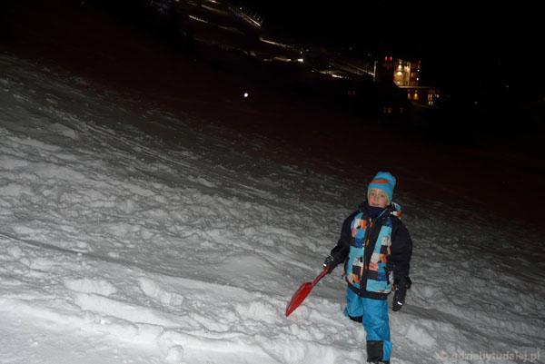 Wieczór w Piecu pod Śnieżką.