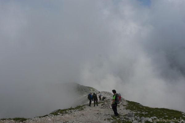 Wschodnie zejście z Alpspitze.