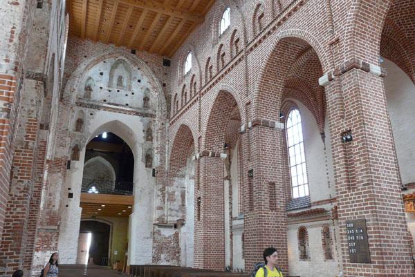 Gotyckie wnętrze.