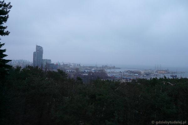 Panorama Gdyni z dzielnicy Kamienna Góra.