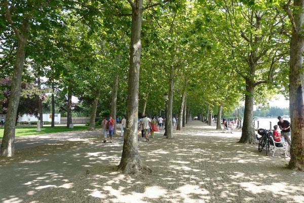 Promenada Tagorego w Balatonufured.