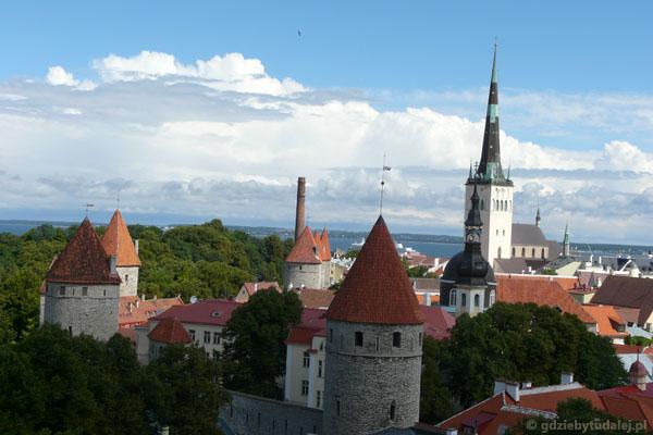 Tallińska starówka z punktu widokowego Patkuli.