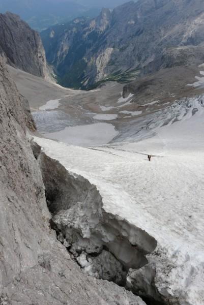 Pożegnanie lodowca Höllentalfermer.