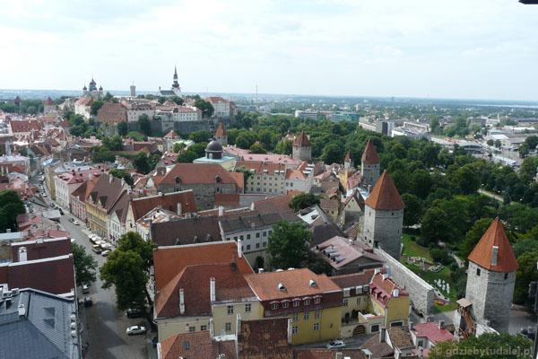Widoki z wieży - Stare Miasto i wzgóze Toompea.