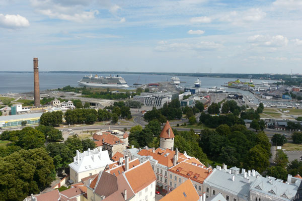 Port w Tallinie.