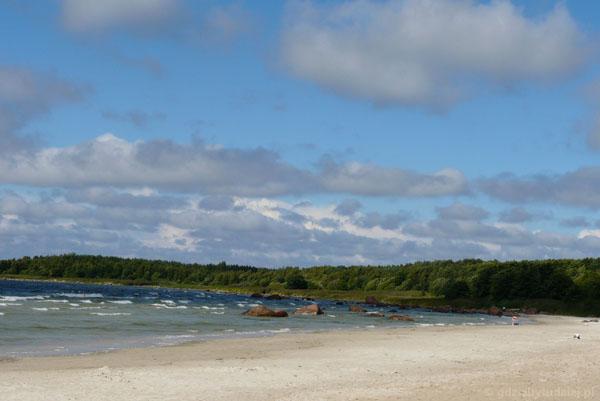 Plaża w okolicy Vääna-Joesuu.