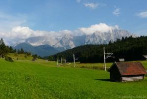 Ostatnie spojrzenie na Karwendele i Mittenwalder Hohenweg.