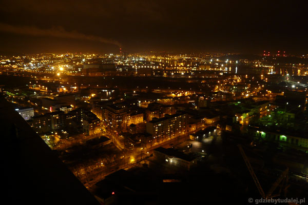 Gdynia nocą. Widok z Sea Towers.