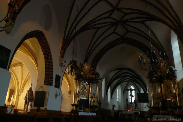 Wnętrze kościoła św. Katarzyny (XV-XVI).