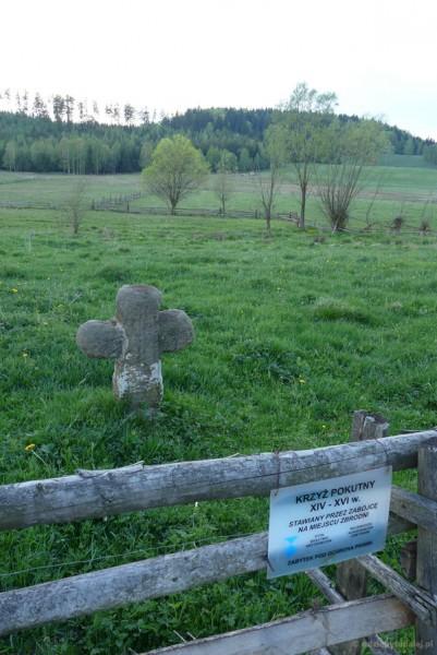 Średniowieczny krzyż pokutny w Kochanowie.