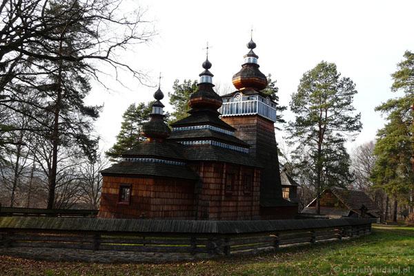 Cerkiew łemkowska z Ropek (pocz. XIX).