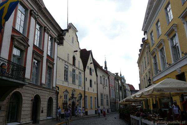 Domy hanzeatyckich kupców na ulicy Pikk.