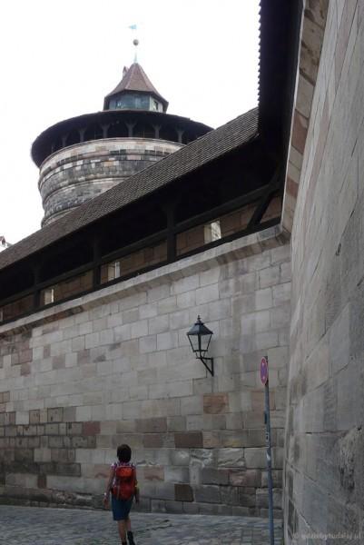 Średniowieczne fortyfikacje Norymbergi.