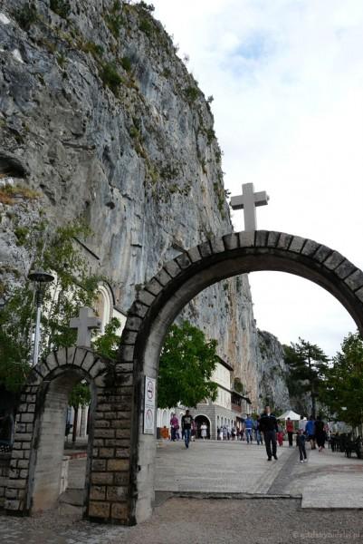 Wejście do Monasteru Ostrog (XVII w).