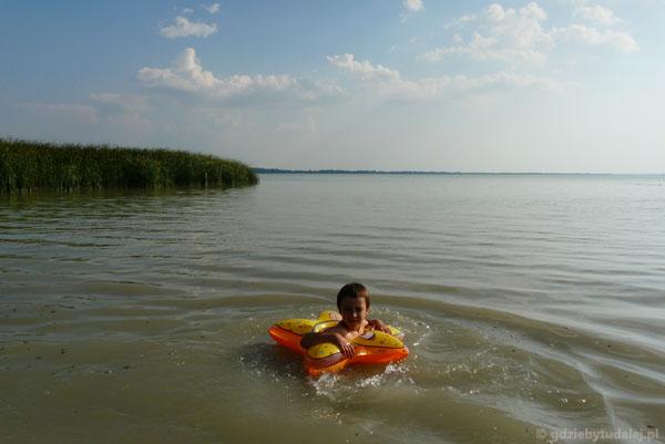 Pożegnalna kąpiel w Balatonie.