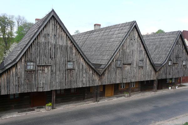 Domy tkaczy (pocz. XVIII) w Chełmsku Śląskim.