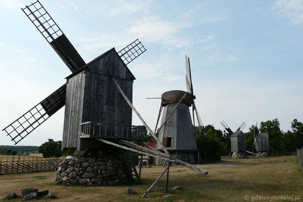 Słynne wiatraki z Saaremy (miejscowość Angla).