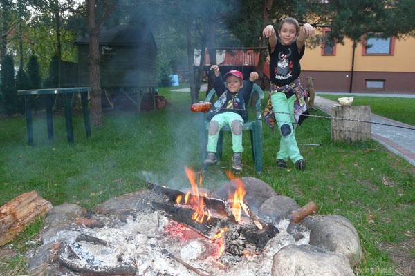 Wieczorne ognisko w naszej agroturystyce.
