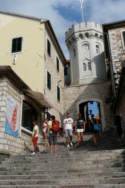 Wieża zegarowa w Herceg Novi.
