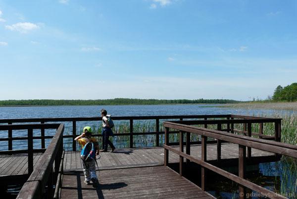 Pomost widokowy nad Jeziorem Łukie.