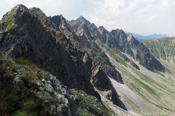 Widok z Kopy nad Krzyżnem w kierunku Granatów.