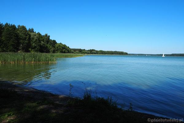 Jezioro Tałty z cypla w Kokoszce.