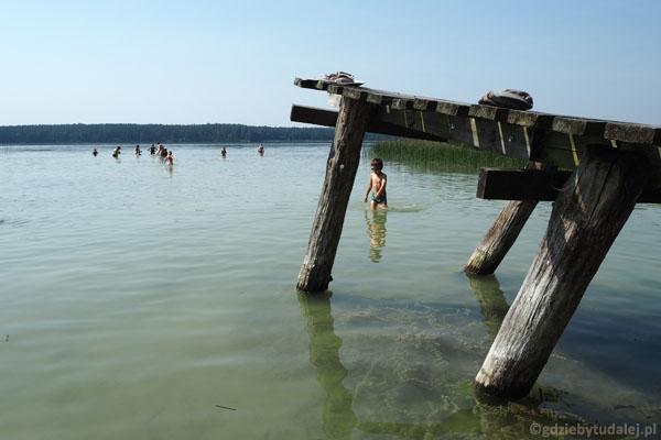 Gwóźdź programu, czyli kąpiel w Jeziorze Mokre.