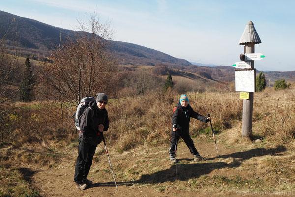 Wyżniańska Przełęcz (860 m n.p.m.) - stąd ruszamy.