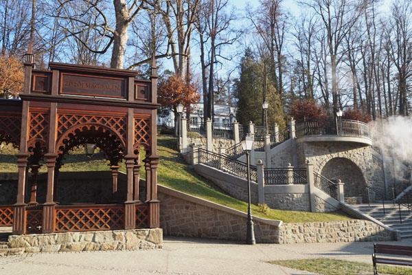 Park Górny z ul. Zdrojowej