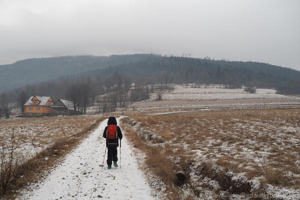 Z przełęczy Gruszowiec na Ćwilin