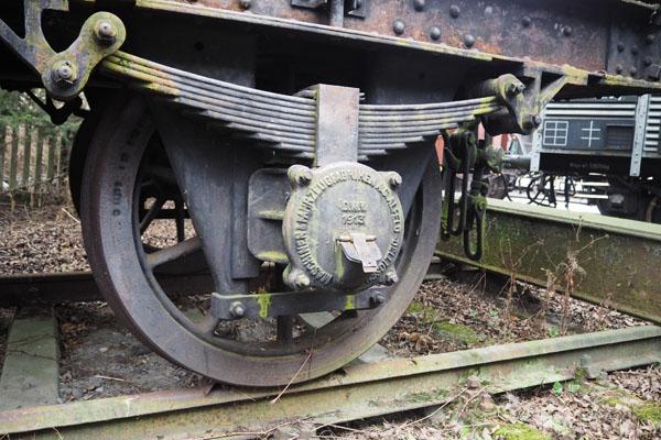 Koło żurawia kolejowego