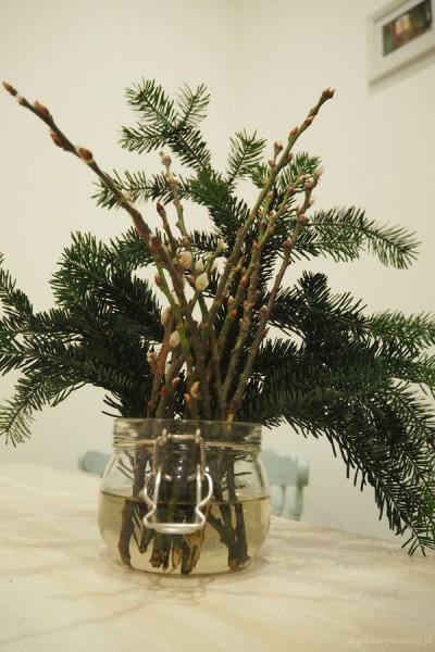 Nasz oryginalny świąteczny stroik - z baziami!