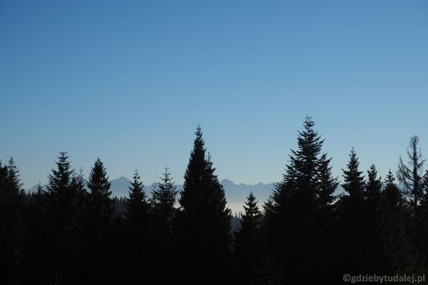 Tatry z polany Stare Wierchy