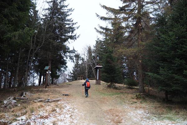 Na szczycie Śnieżnicy (1006 m n.p.m.)