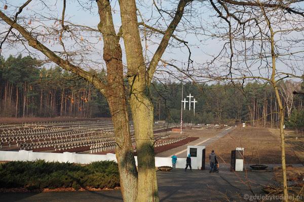 Schodami prowadzącymi od muzeum wchodzimy na teren cmentarza.